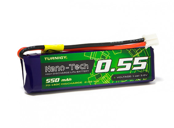Turnigy Nano-Tech Plus 550mAh 1S 70C Lipo Pack w/JST-PH